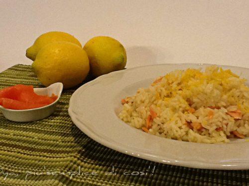 Risotto salmone e limone, ricetta raffinata semplice