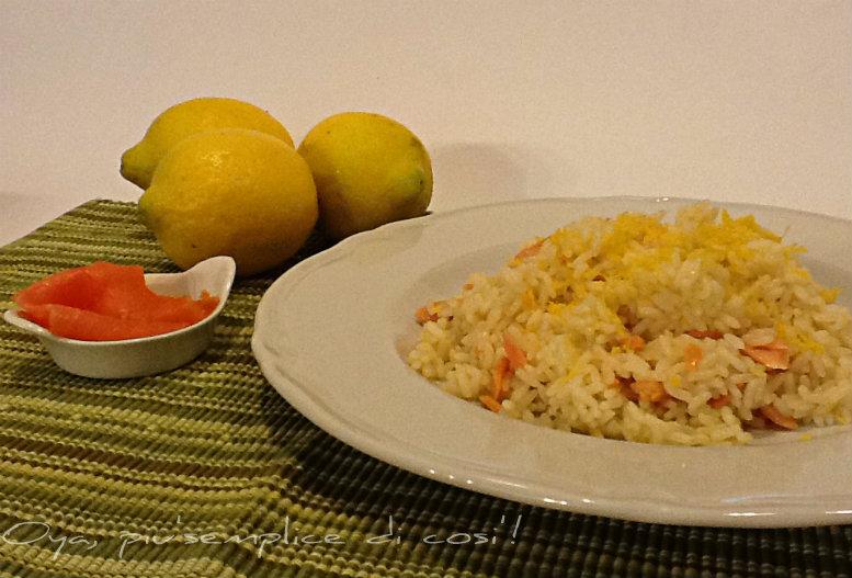 Risotto salmone e limone, ricetta raffinata semplice   Oya