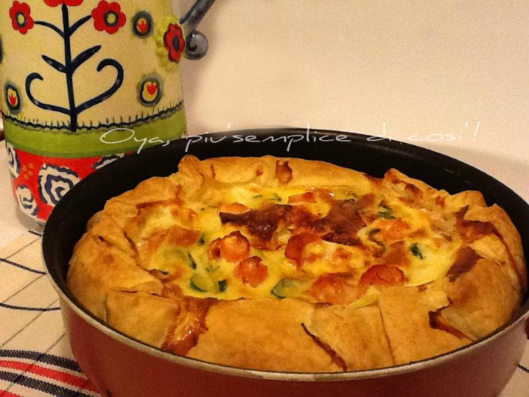 Torta rustica zucchine e salmone | Oya