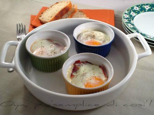 Uova in cocotte, ricetta semplice e saporita