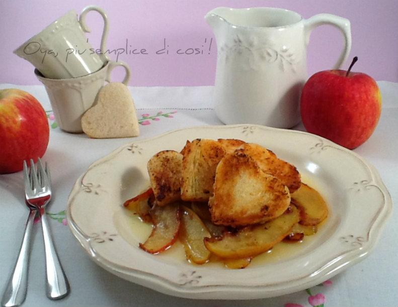 Mele alla vaniglia con crostini, dolce colazione   Oya