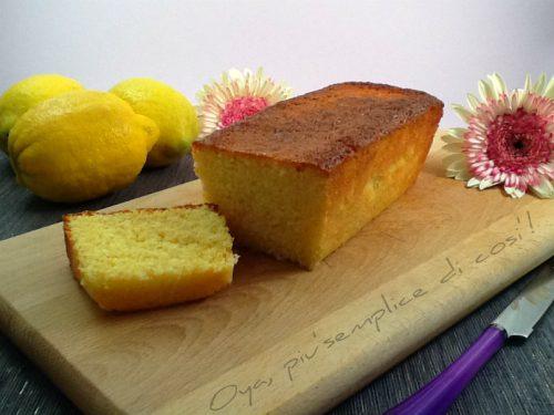 Plumcake al limone, ricetta dolce semplice