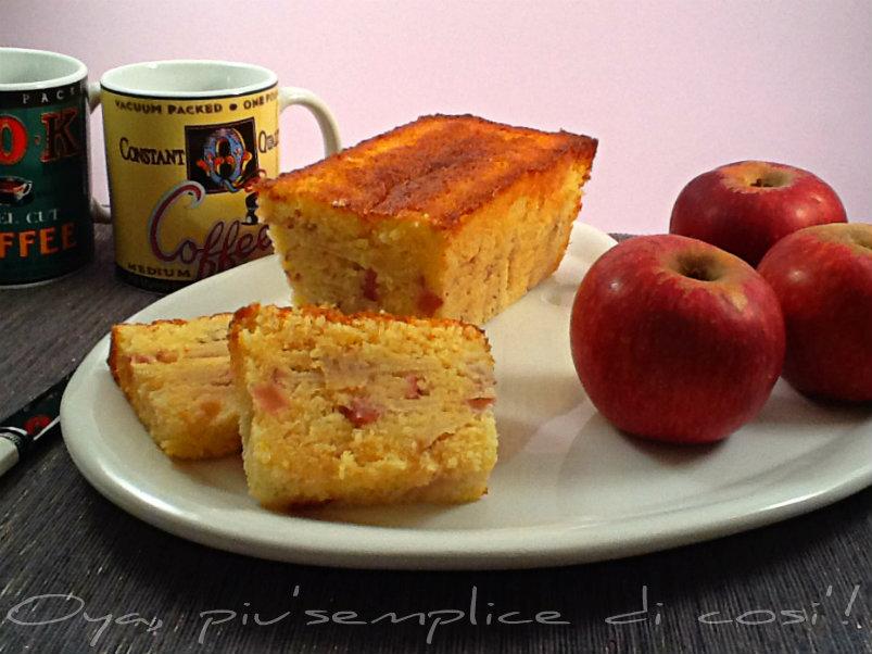 Plumcake alle mele, ricetta dolce | Oya