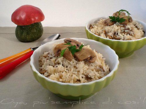 Risotto ai funghi champignon, ricetta gustosa