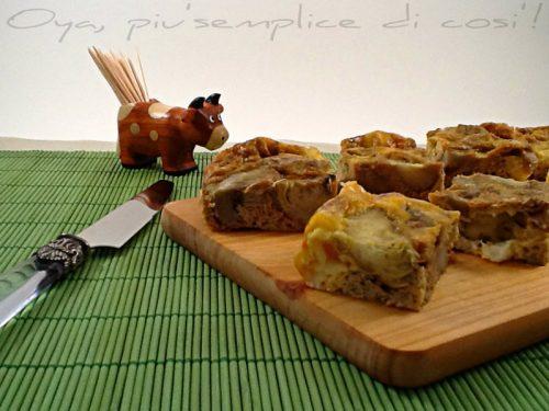 Frittata di carciofi e provola, ricetta al forno
