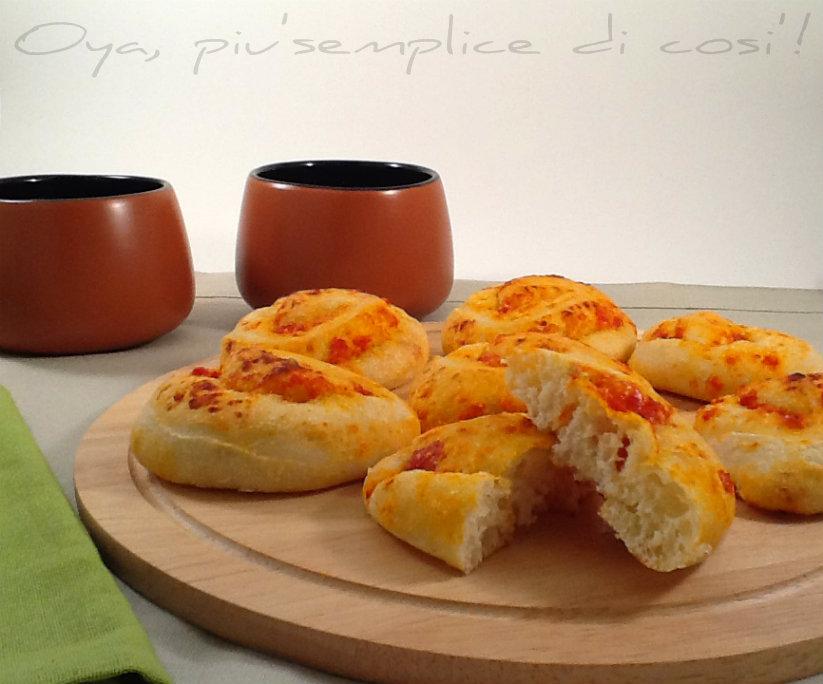 Girelle di pizza con pomodoro, ricetta   Oya