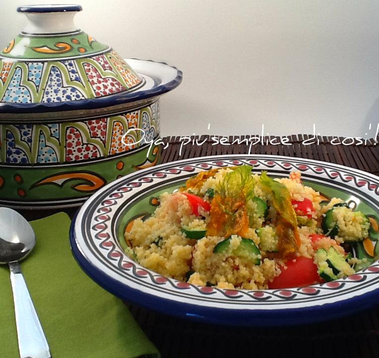 Cous cous zucchine, fiori di zucca e pomodorini | Oya