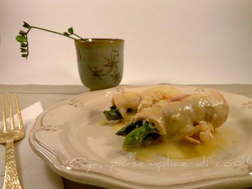 Involtini di pollo con asparagi, ricetta