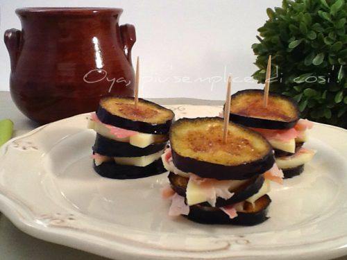 Torrette di melanzane farcite, ricetta sfiziosa