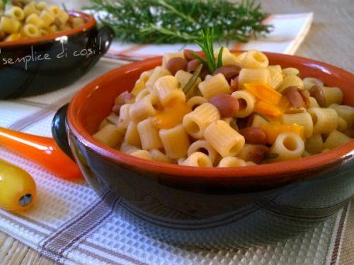 Pasta fagioli e peperoni, ricetta rustica