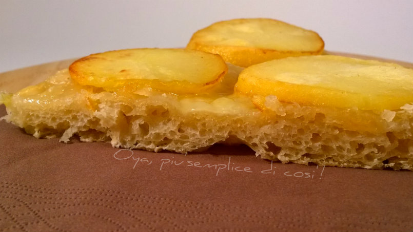 Pizza patate e fontina, ricetta   Oya