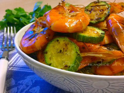 Gamberetti marinati alla griglia, ricetta