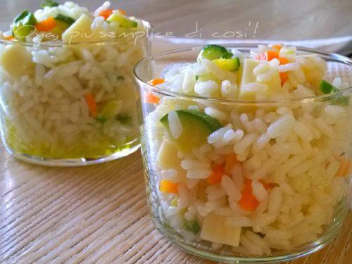 Insalata di riso con zucchine e carote, ricetta
