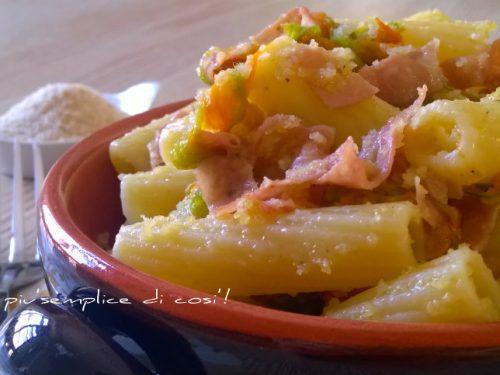 Pasta mortadella e fiori di zucca, ricetta