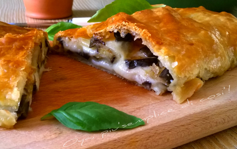 Rotolo di sfoglia con melanzane, ricetta | Oya