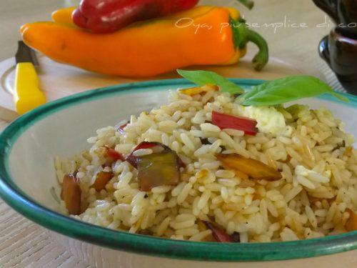 Riso peperoni e mozzarella, ricetta saporita
