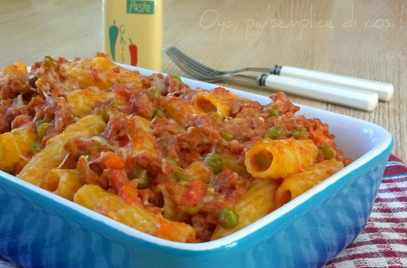 Pasta al forno con sugo di carne macinata, ricetta