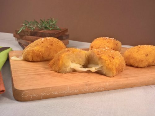 Mini polpettoni di patate ripieni, ricetta