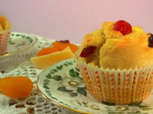 Muffin con frutta disidratata, ricetta dolce