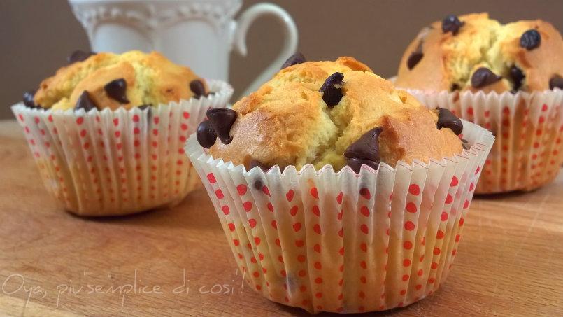 Muffin con gocce di cioccolato, ricetta | Oya