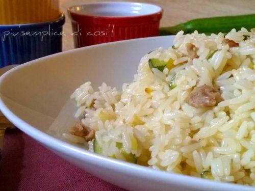 Riso zucchine e salsiccia, ricetta semplice