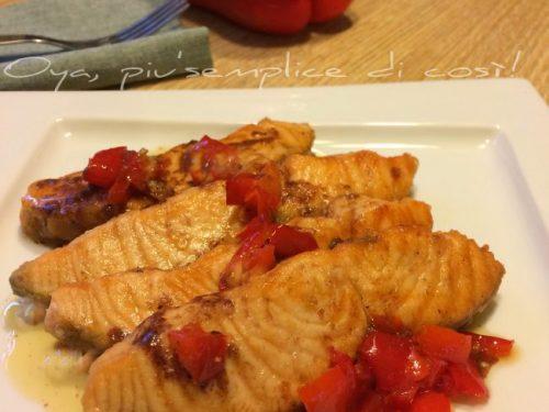 Scaloppine pesce spada e peperoni, ricetta gustosa