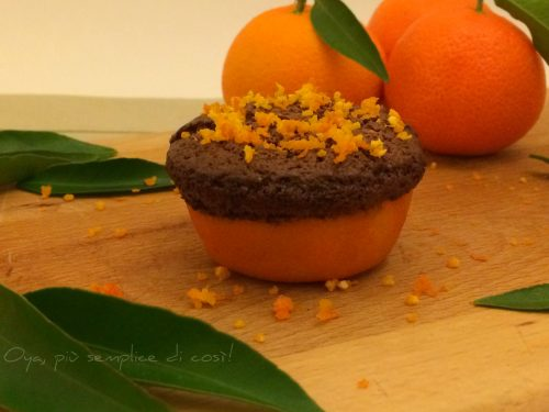 Tortine al cioccolato aromatiche nelle clementine, ricetta