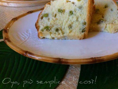 Ciambella salata piselli e formaggio, ricetta saporita