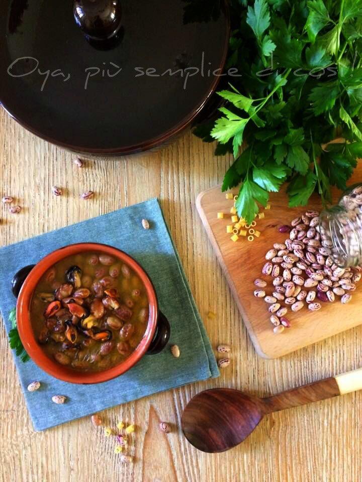 Fagioli con le cozze, ricetta ricca e gustosa