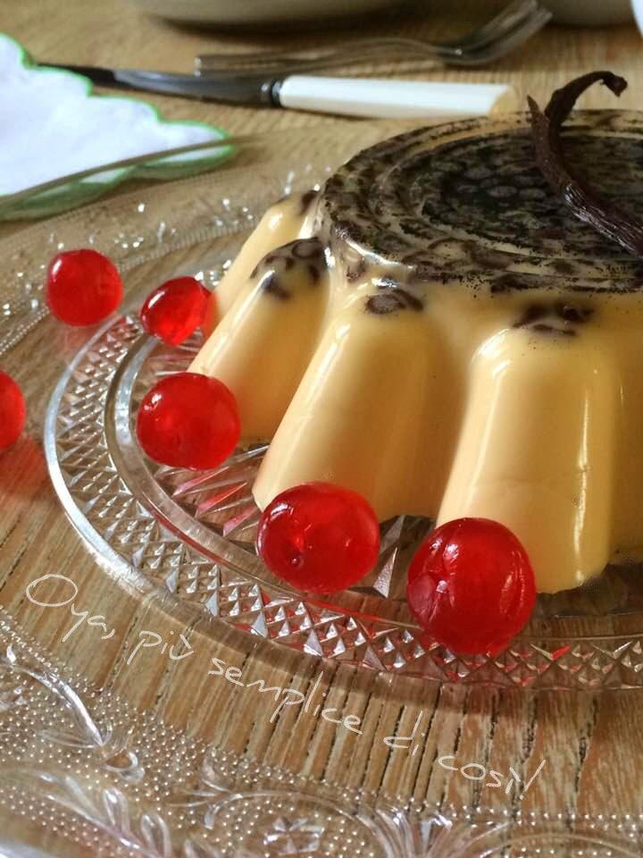 Budino alla vaniglia con gocce di cioccolato, ricetta dolce