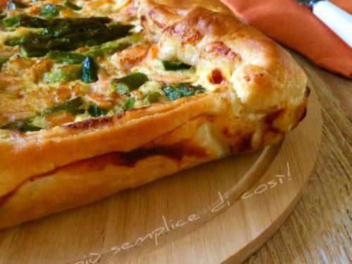 Rustico asparagi e salmone, ricetta semplice e saporita