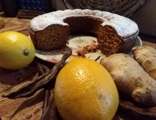 Ciambellone integrale Limone Zenzero senza Latte e Burro