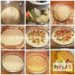 Pizza ripiena con fichi e salsiccia piccante di Calabria 1