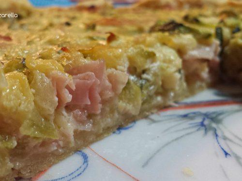 Torta salata con Zucchine, cotto e Philadelphia