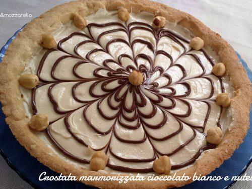 Crostata marmorizzata cioccolato bianco e nutella