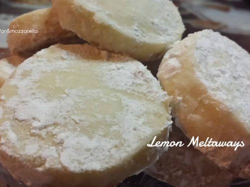 Lemon Meltaways – biscotti senza uova