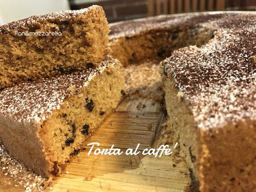 Torta al caffè e gocce di cioccolato fondente