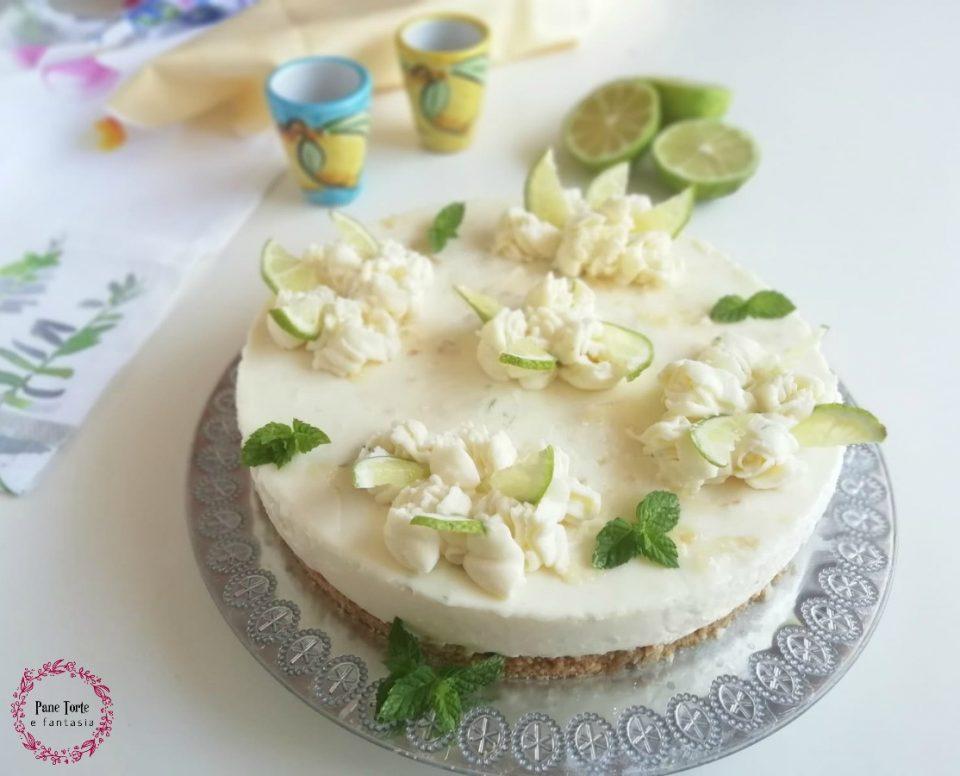 cheesecake variegata al limone