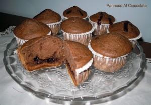muffin alla banana con cuore di nutella