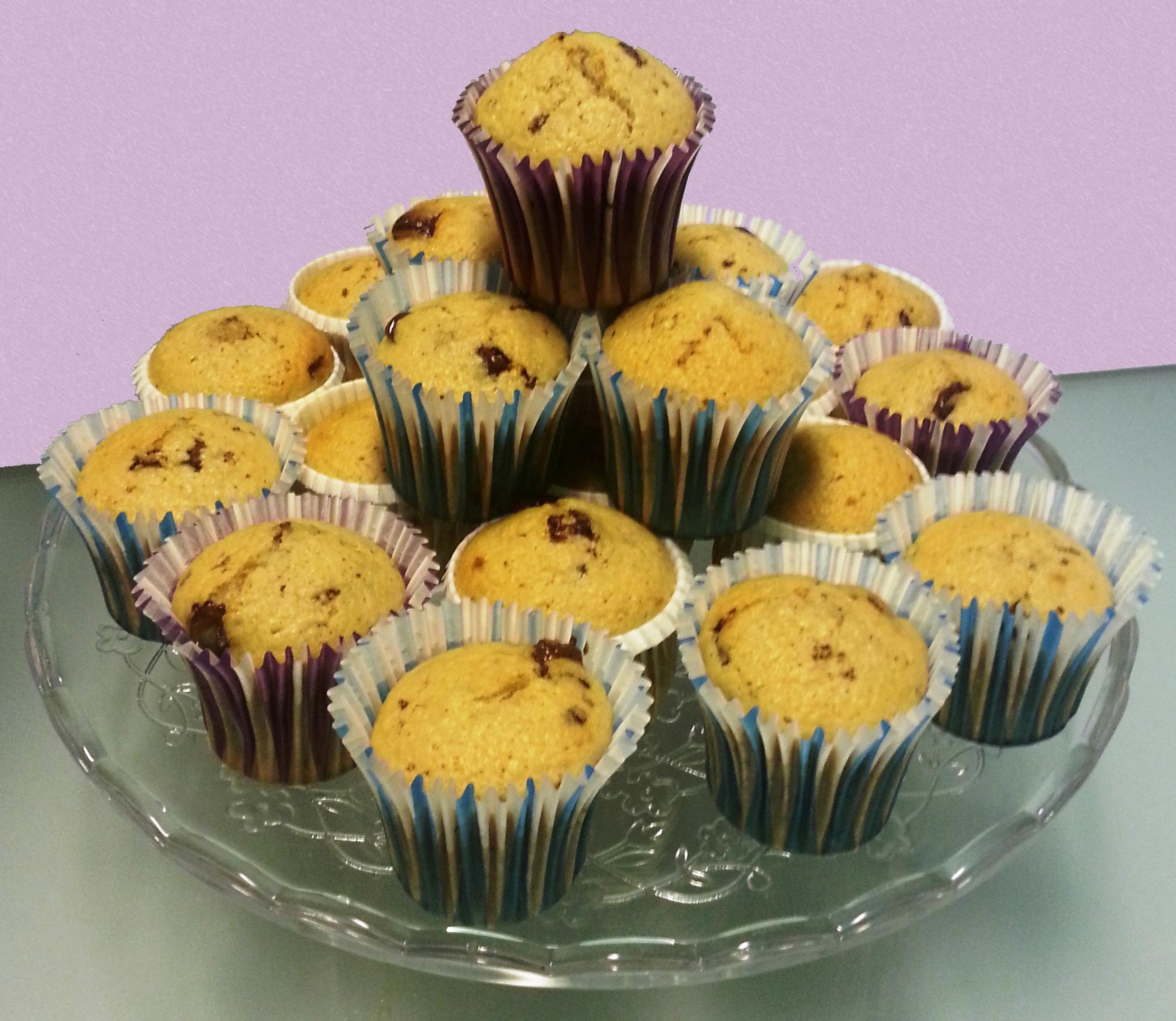 Muffin pere e gocce di cioccolato - ricetta con e senza bimby
