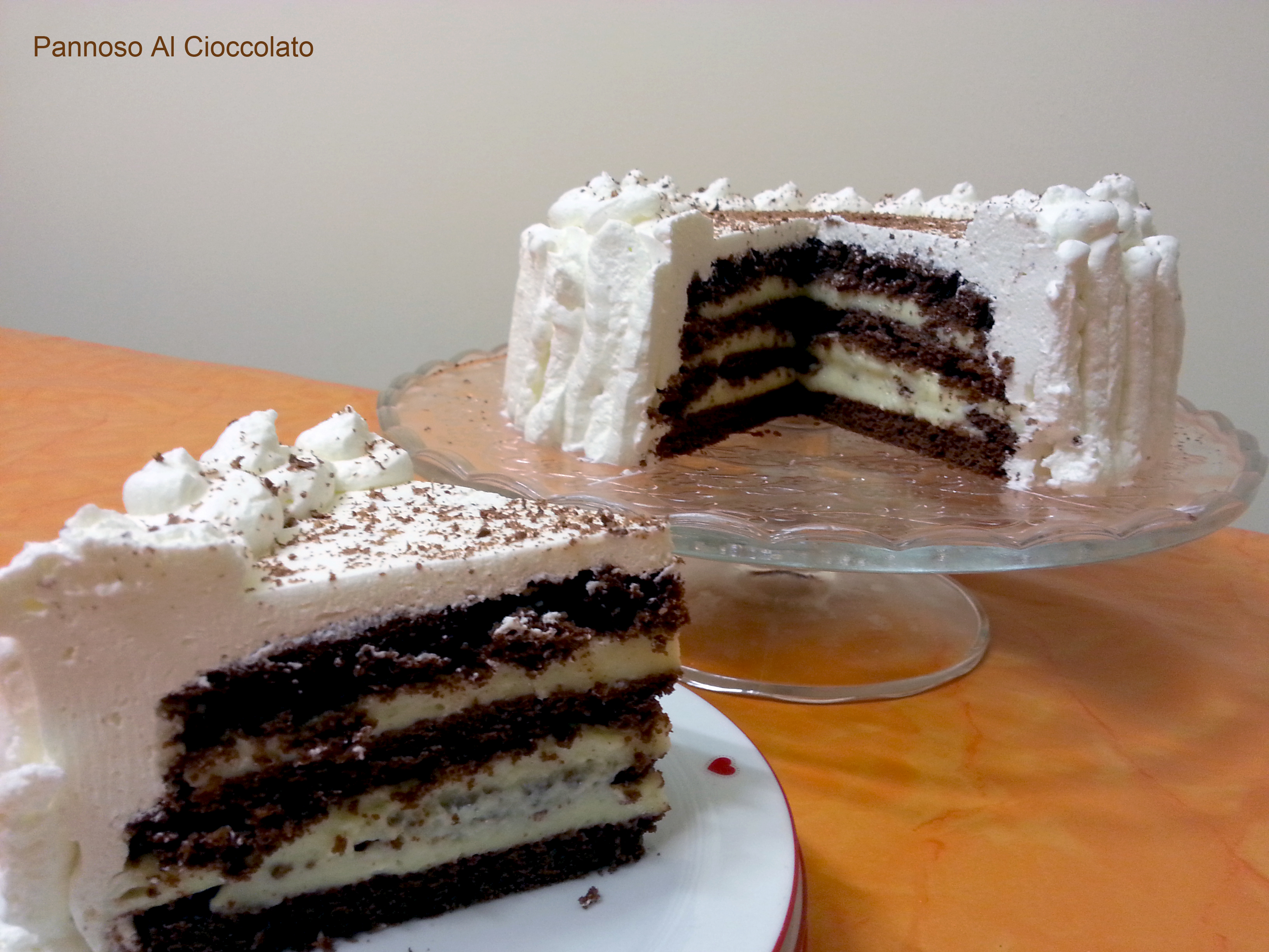 Torta cioccolato e crema chantilly