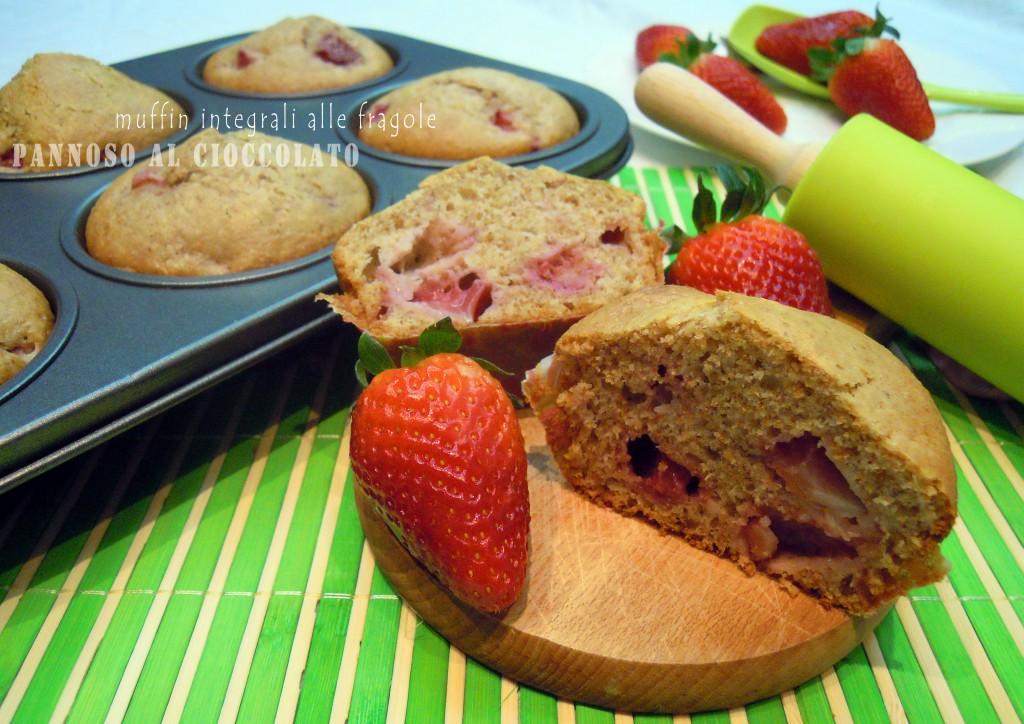 muffin integrali alle fragole