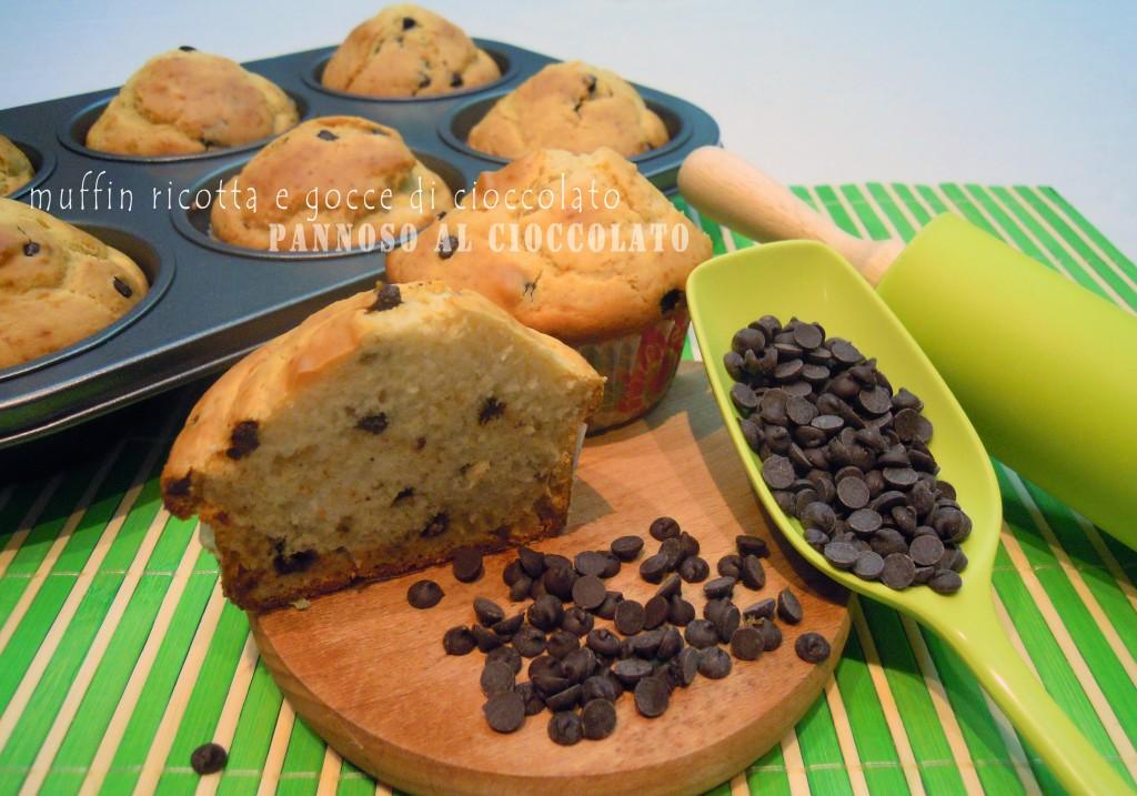 muffin ricotta e goccie di cioccolato