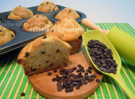 Muffin ricotta e gocce di cioccolato – ricetta senza grassi aggunti