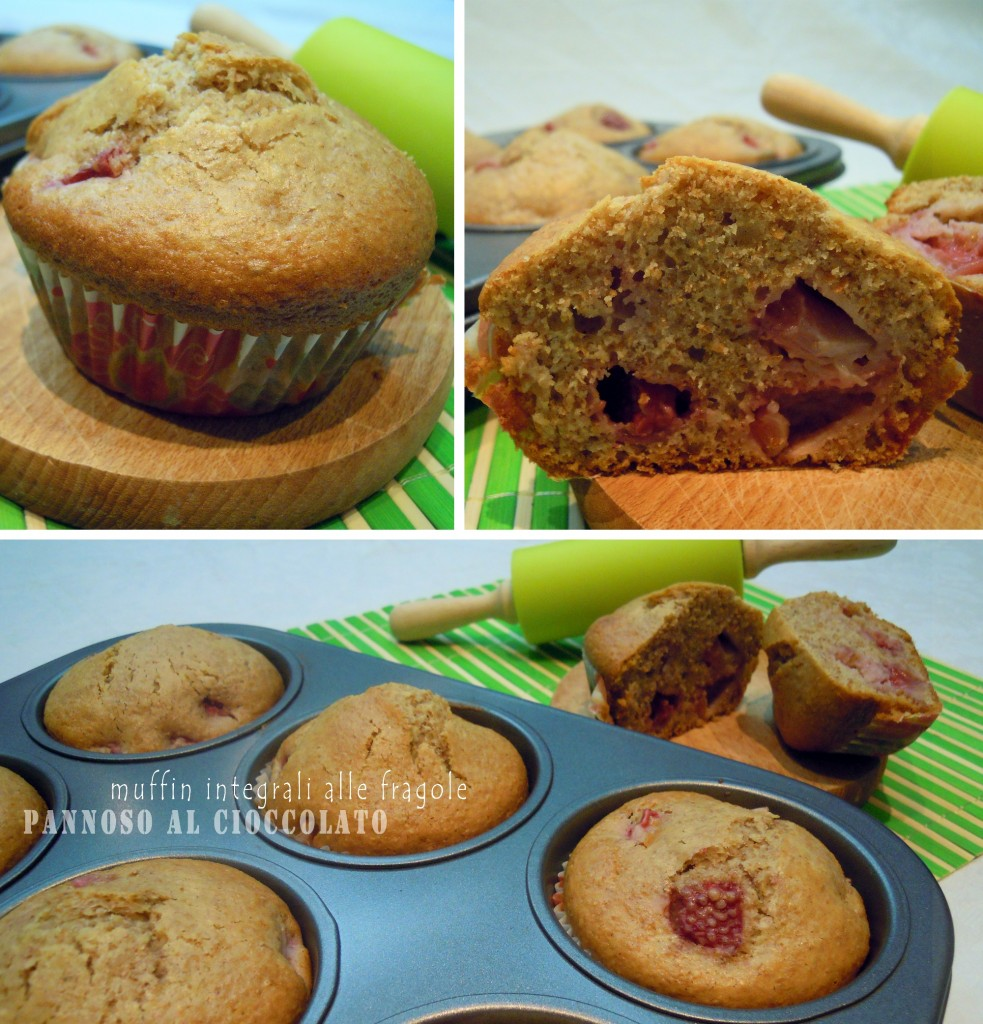 ricetta muffin integrali alle fragole