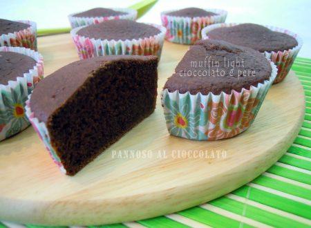 Muffin light cioccolato e pere – ricetta tradizionale e bimby