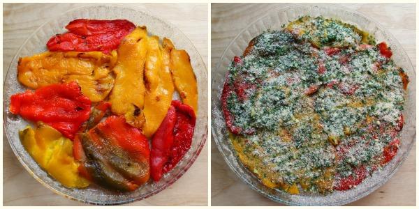 peperoni al forno - preparazione