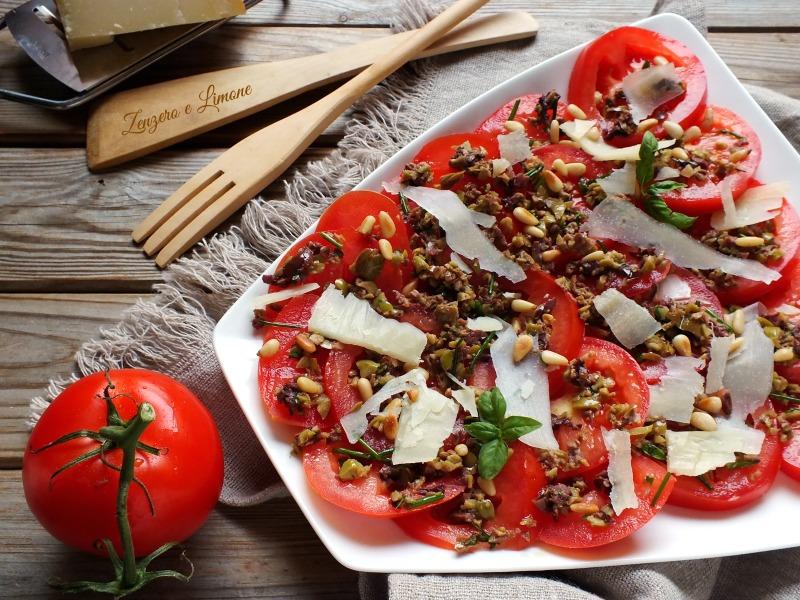 pomodori con pecorino e olive