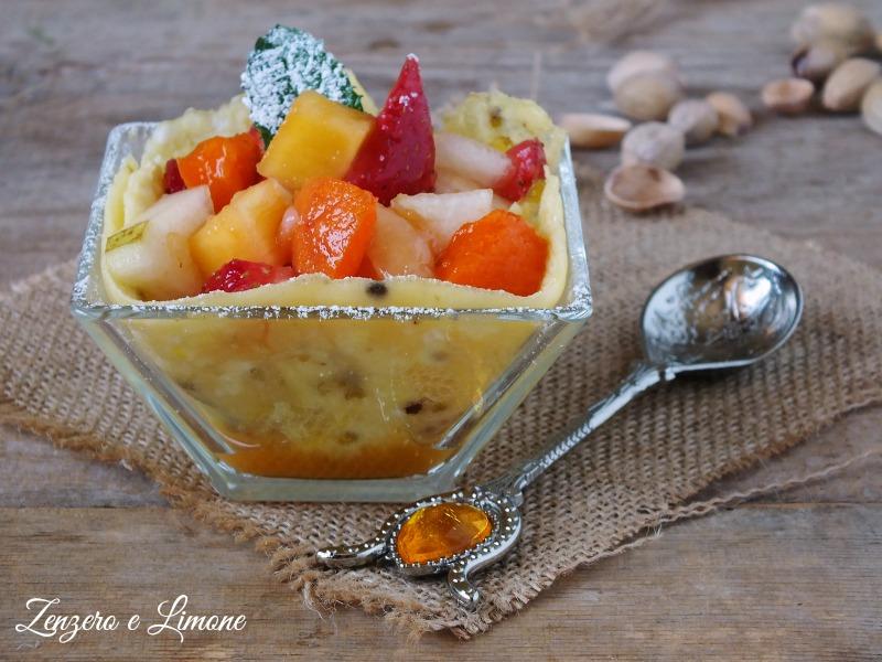 frittata dolce con frutta