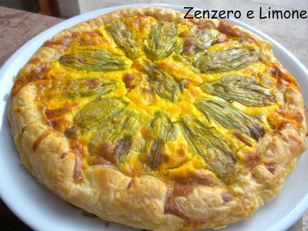 Fiori Salati Giallo Zafferano.Torta Salata Ai Fiori Di Zucca Zenzero E Limone